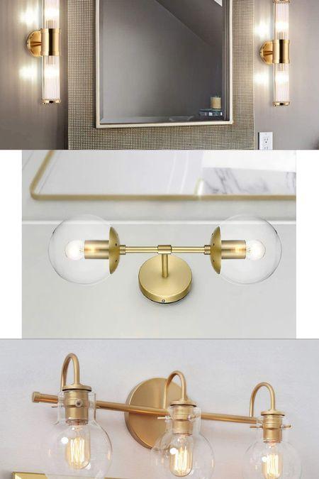 Light fixture options for the powder bathroom! Sconces. Amazon home. Amazon finds.   #LTKunder100 #LTKhome #LTKstyletip