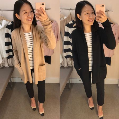 This cardigan is one of my favorite purchases from the recent 50% off sale. I got both the camel and black colors (true to size but I sized up to layer comfortably). It's currently 40% off with code FALLFEST. 🍁 Purchase up a $25 Cares Card to save more now through 11/15/18 on in store purchases of $100+. Cardmembers save an extra 25% and non-cardmembers save an extra 20% with the Cares Card which is like a multi-use savings pass and it's also combinable on other promotions on full-price items! @liketoknow.it http://liketk.it/2xBKv #liketkit #LTKsalealert #LTKshoecrush  #LTKstyletip  #LTKunder100 #LTKunder50