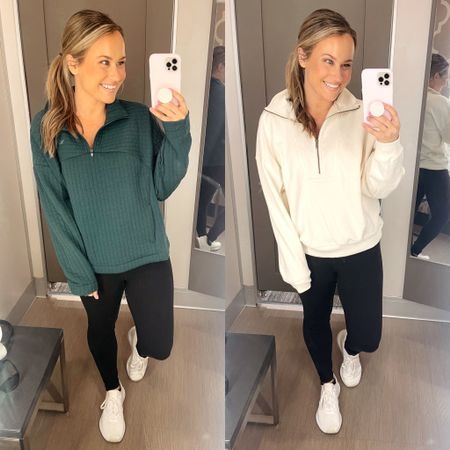 Target finds: these pullovers are must haves for fall, so comfy and the quality is amazing! Also linked my favorite leggings and white sneakers  #LTKfit #LTKunder50 #LTKshoecrush