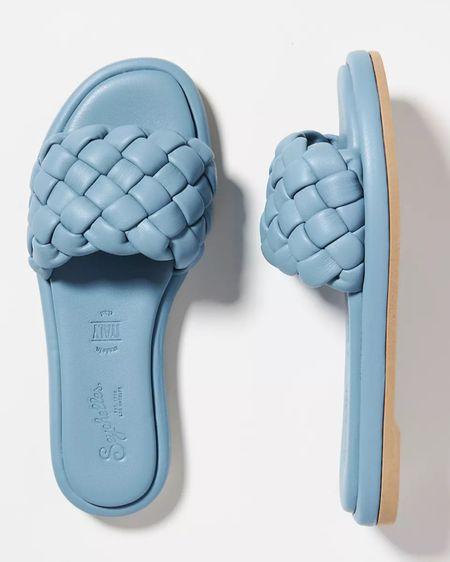 Stylist pick: Blue slides by Seychelles, online exclusive with Anthropologie.   http://liketk.it/3jolG @liketoknow.it #liketkit #LTKunder100 #LTKshoecrush #LTKsalealert