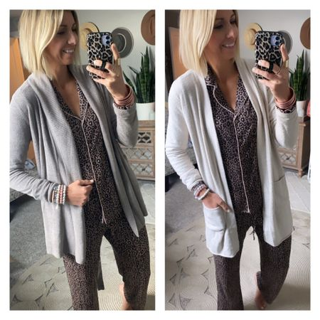 Best Lounge wear from the #nsale These barefoot dreams cardigans are still in stock! I got my true size small in both styles.  These pjs are a must have for me every year during the sale. I got my true size small.   #LTKsalealert #LTKhome #LTKunder100