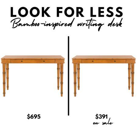 LOOK FOR LESS One Kings Lane Warren bamboo inspired writing desk   #LTKhome