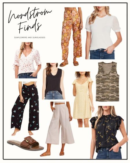 Nordstrom has the best stuff! How cute are these wide legged pants?! Also loving these muscle tanks, and they come in a ton of colors!  #LTKstyletip #LTKunder100 #LTKSeasonal