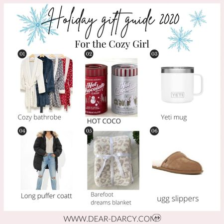 Gift guide for the Cozy girl❤️🎄🎁 . . The perfect gifts to give to your cozy loving girls 🎁 I picked 16 items she's sure to ❤️ love. . . . Shop your screenshot of this pic with the LIKEtoKNOW.it shopping app http://liketk.it/342NM #liketkit @liketoknow.it You can instantly shop my looks by following me on the LIKEtoKNOW.it shopping app  . . . . #LTKgiftspo #LTKunder50 #LTKstyletip