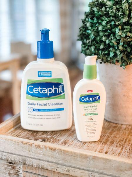 Cetaphil daily facial cleanser. Facial moisturizer SPF 35.   #LTKunder50 #LTKbeauty #LTKunder100