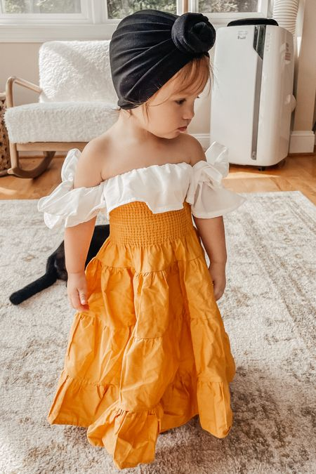 The cutest little baby yellow maxi skirt and crop top 😍 I found this on aliexpress but it's also available on Amazon! Baby clothes, baby girl clothes, baby girl outfit, toddler girl outfits   #LTKkids #LTKbump #LTKbaby