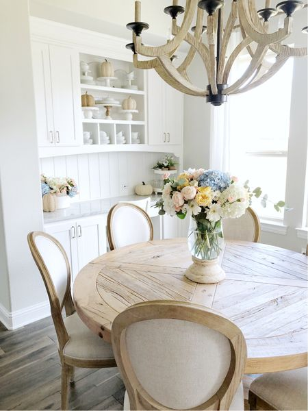 Kitchen decor, fall decor, kitchen table, round dining table   #LTKhome #LTKSeasonal #LTKfamily