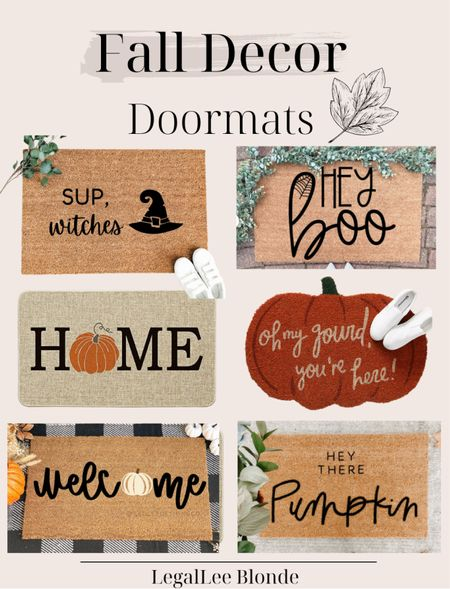Fall doormats for your porch decor! - fall doormat - Etsy finds - amazon finds - amazon gone - porch decorations - fall home decor - fall decorations - fall outdoor decor  #LTKhome #LTKunder100 #LTKunder50
