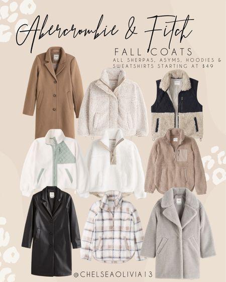 All my favorite fall coats are on SALE at Abercrombie & Fitch!!  #LTKsalealert #LTKSeasonal #LTKunder100