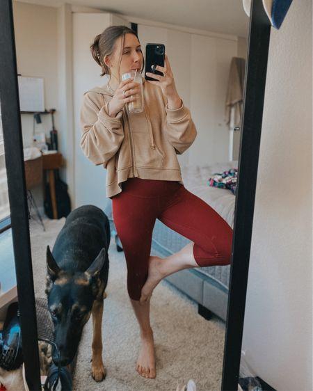 Matching set | cropped leggings | zip hoodie | oversized hoodie   http://liketk.it/3hj5p @liketoknow.it #liketkit #LTKunder50 #LTKunder100 #LTKsalealert