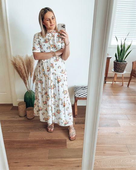 Summer Dressing  Such a beautiful floral dress. Loose and flowy! Great for my postpartum body journey & also breastfeeding friendly 💃   @liketoknow.it #liketkit #LTKcurves #LTKunder100 #LTKshoecrush http://liketk.it/3gphn