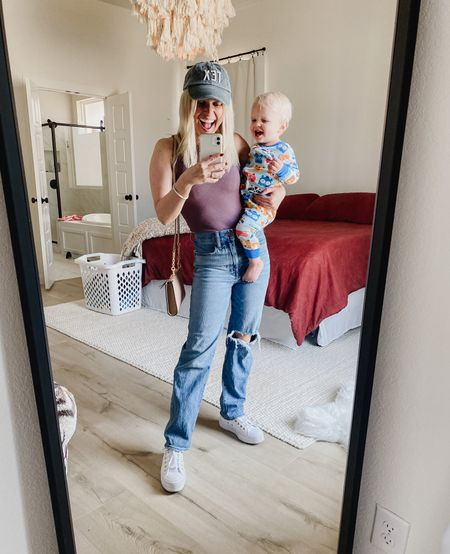 Mom (jeans) mom (the title)  mom (the laundry to do behind me) What can I say? I've nailed thing 🤷🏼♀️😉  #LTKunder100