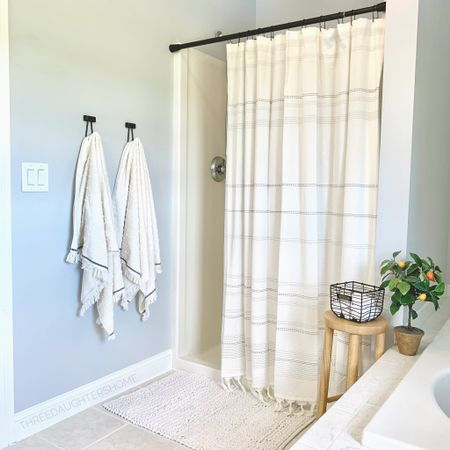 Target one  stop shop shower refresh! It's amazing how much a few products can breathe live into a (outdated) space. 🙃 http://liketk.it/3ir4g #liketkit @liketoknow.it #LTKhome #LTKunder50 @liketoknow.it.home