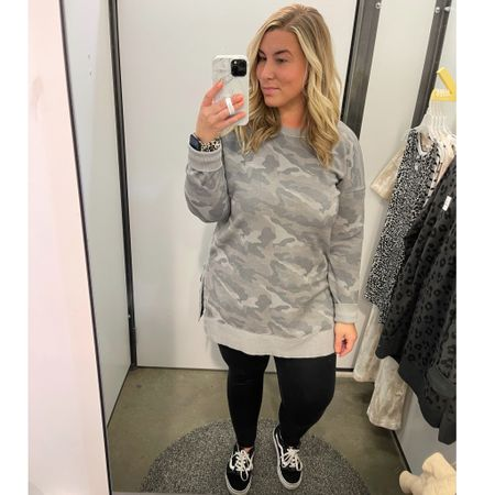 Old Navy has some super cute lightweight tunics on sale right now - this one is on sale for $28 w/ code SWEET. This one fits oversized - wearing a large for reference and it's a bit too big so would suggest sizing down a size. Also my Aerie crackle leggings are on sale for $31! You can also take 10% off your Loopy phone case w/ code ashleymorganstyle at loopycases.com. @liketoknow.it #liketkit #LTKcurves #LTKsalealert #LTKunder50 #oldnavy #womensstyle #springstyle #crackleleggings #loopy #loopycase #ltkspring #curvystyle #midsizestyle #camo #applewatchband #midsizeblogger http://liketk.it/3ddtP