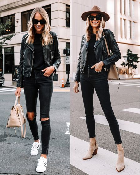 A black leather jacket is essential for fall and this one has been my favorite for years! I wear a small   #LTKunder50 #LTKunder100 #LTKstyletip