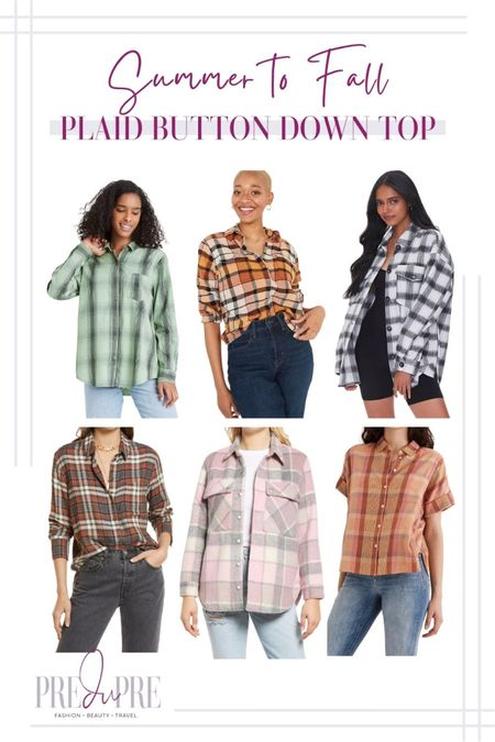 Transition your favorite summer outfits into the fall season with these five pieces. Read how to do easy-peasy season style changes on the blog www.predupre.com  http://liketk.it/3mWvk  plaid print, plaid button down top, plaid shacket, summer to fall, fall outfits, fall outfit ideas, fall looks, transition pieces   #LTKSeasonal #LTKstyletip