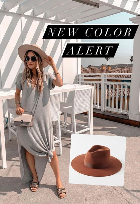 You all know how much I love & wear these hats! I'm obsessed with the quality & the newest chocolate & rust tones. This one is in the neutral tone.   Summer outfit  T-shirt dress  Maxi dress  Hats  Designer sandals  Amazon find  Follow me on my IG @drluxy and feel free to ask me any questions there!   #LTKtravel #LTKunder50 #LTKstyletip