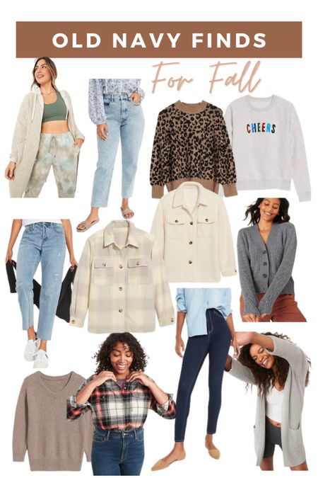 Old navy finds for fall! All of these jeans, sweaters, shackets, and flannels are 50% off today!!!  #LTKunder50 #LTKsalealert #LTKSeasonal