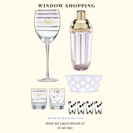 Crushing on this Kate Spade glassware and barware. It's 30% off right now! This would make a fabulous gift or stocking stuffer    #LTKfamily #LTKGiftGuide #LTKHoliday