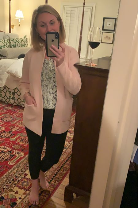 J. Crew Factory workwear try on, including the sweetest blush pink (shown as red here) blazer that would be perfect for Valentine's Day at work! #LTKunder50 #LTKunder100 #LTKworkwear ♥️ http://liketk.it/2JQ7o #liketkit @liketoknow.it