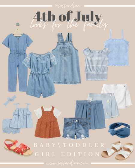 4th of July Look Baby/Toddler GIRL  #LTKkids #LTKbaby #LTKunder50