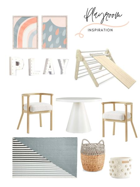Kids playroom decor and inspiration! Loving this modern kids playroom mood board. You can shop the look: http://liketk.it/3bwXD #liketkit @liketoknow.it @liketoknow.it.home #LTKfamily #LTKhome #LTKkids