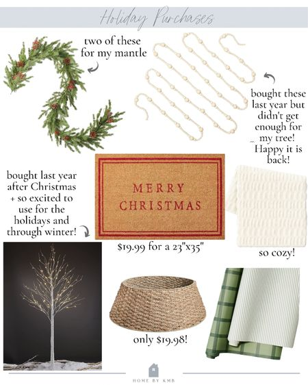 My holiday purchases so far! Too early? #targetstyle #hearthandhand #christmasdecor  #LTKSeasonal #LTKhome #LTKHoliday