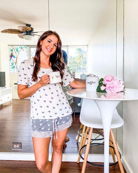 Pajamas, lace trimmed pajamas http://liketk.it/352jI #liketkit #LTKunder50 #LTKNewYear #StayHomeWithLTK @liketoknow.it