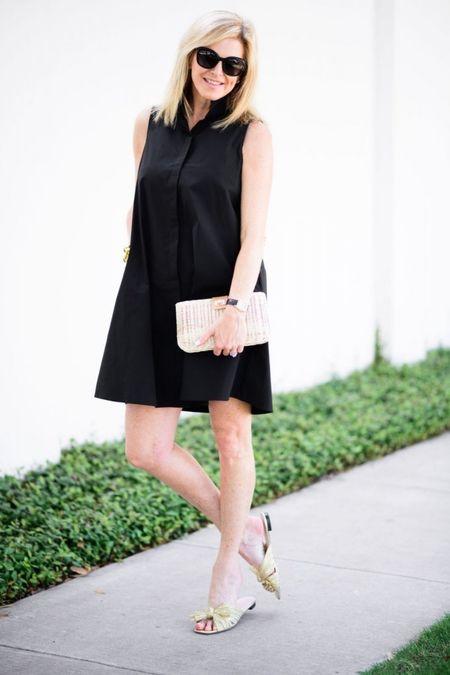 Black dress for summer days. I'm in a size S.   #LTKSeasonal #LTKshoecrush #LTKstyletip