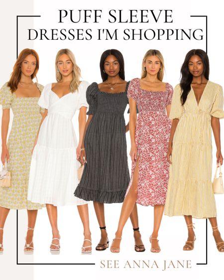 Puff Sleeve Dresses I'm Shopping ✨  #puffsleevedress #falldress #puffsleeve #revolve #revolvedress #revolveclothing #mididress #fallstyle #falloutfits #falloutfitideas #falfashion  #LTKSeasonal #LTKstyletip