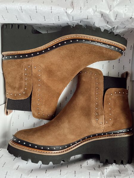 Studded suede booties from Dolce Vita!! Part of the Nordstrom sale. They definitely run TTS but size up if you plan to wear with thick socks   #LTKunder100 #LTKsalealert #LTKshoecrush