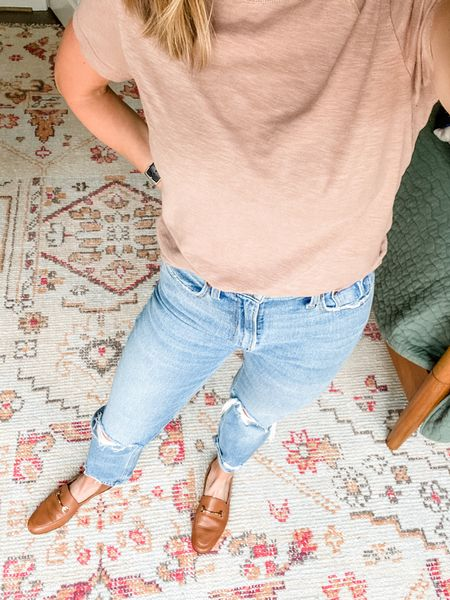 Love love love these Abercrombie jeans! They are TTS.   #LTKstyletip #LTKunder100 #LTKsalealert