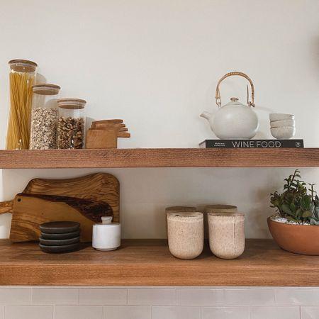 Only cute things on these shelves are allowed 🤎 #anthropologie #shelfie #homedecor #shelforganization #kitchen http://liketk.it/3brSE #liketkit @liketoknow.it