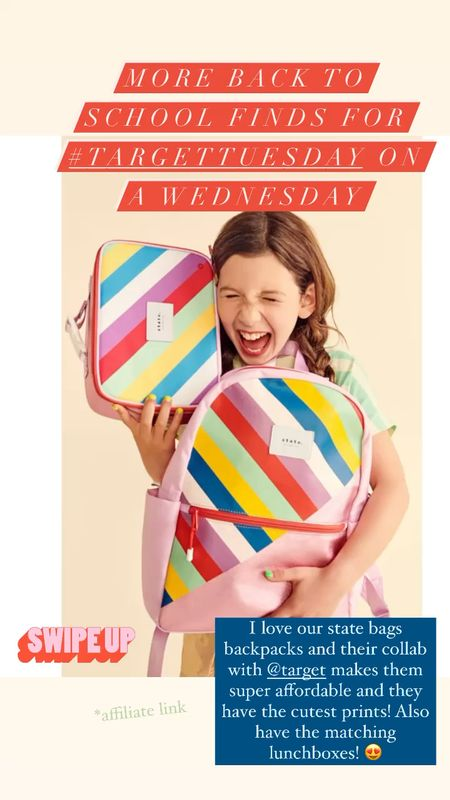 State Bags collab with target is the cutest! Fun prints on backpacks and lunchboxes make going back to school super stylish!   #LTKfamily #LTKkids #LTKitbag