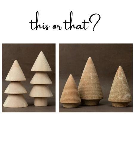 Christmas and holiday decor Christmas trees wood and stone studio McGee. McGee and co. Home decor trends and finds.   #LTKGiftGuide #LTKhome #LTKHoliday