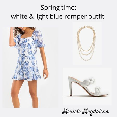 Loving this white and blue romper! So cute 💙  http://liketk.it/3dB5x #liketkit @liketoknow.it   #LTKstyletip #LTKsalealert #LTKshoecrush