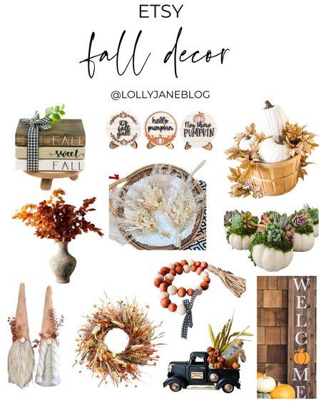 Etsy fall decor!  Lolly Jane blog | #lollyjaneblog  #LTKsalealert #LTKunder100 #LTKunder50