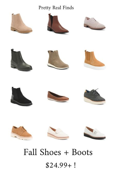 Such cute fall shoes and boots! I'm diggin the Chelsea boots with a lug sole right now. Name brand, genuine leather and just $24.99 and up!  #LTKunder100 #LTKshoecrush #LTKSeasonal