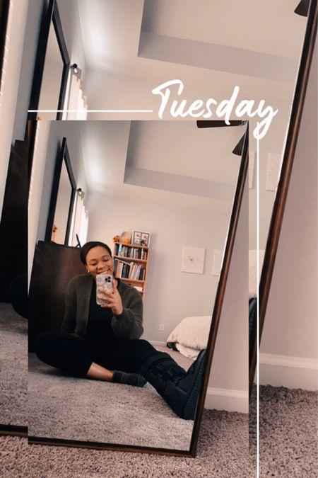The comfiest work from home outfit. Butter soft leggings and a fuzzy cardigan! @liketoknow.it http://liketk.it/3a536 #liketkit #workfromhome #loungewear