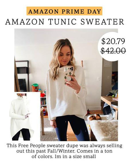 Amazon Tunic Sweater - size small // Amazon prime day finds #LTKsalealert #LTKunder50 #LTKstyletip #liketkit @liketoknow.it http://liketk.it/3i60f