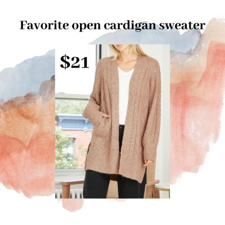 Sweaters and cardigans on sale!! Last day today for under $50 sweaters including this cute, soft, side slit cardigan for $21!! http://liketk.it/337fL #liketkit @liketoknow.it #LTKsalealert #StayHomeWithLTK #LTKitbag You can instantly shop my looks by following me on the LIKEtoKNOW.it shopping app