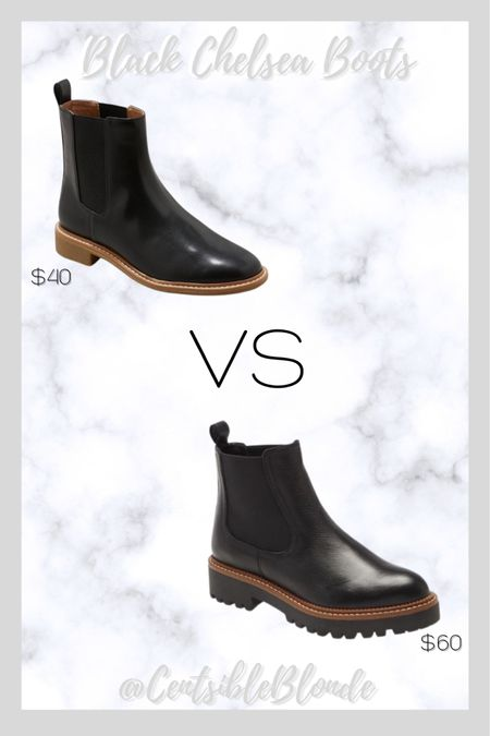 Black Chelsea boots Slip on boots Water resistant boots   #LTKSeasonal #LTKshoecrush #LTKtravel
