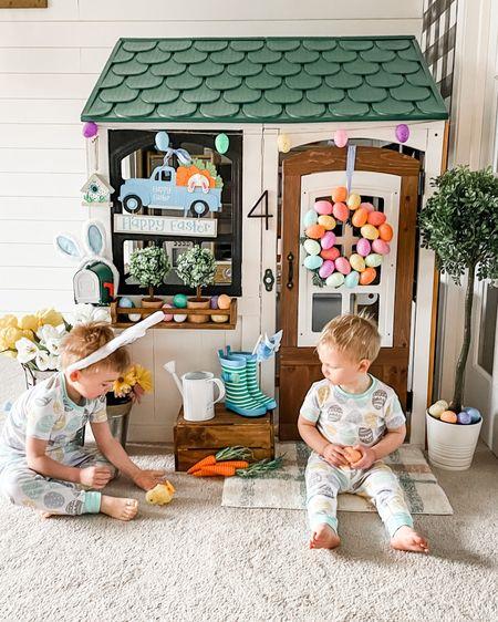 Hoppin' into spring break!   #LTKSpringSale #LTKbaby #LTKkids #playhouse #easterPlayhouse #DIYplayhouse #easterpajamas #springPlayhouse @liketoknow.it.home http://liketk.it/3bt6U @liketoknow.it #liketkit