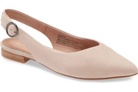 Pointy toe flat | slingback flat | ballerina flats | work shoes | nsale | Nordstrom sale #LTKworkwear #LTKsalealert #LTKunder100 @liketoknow.it #liketkit http://liketk.it/2VumK
