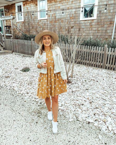 Things that make me happy: Sneakers, fresh ocean air, skater dresses & a solid tan. 😉   http://liketk.it/2NSos #liketkit @liketoknow.it #StayHomeWithLTK #LTKspring #LTKstyletip  White sneakers Summer dress crop jacket outfit