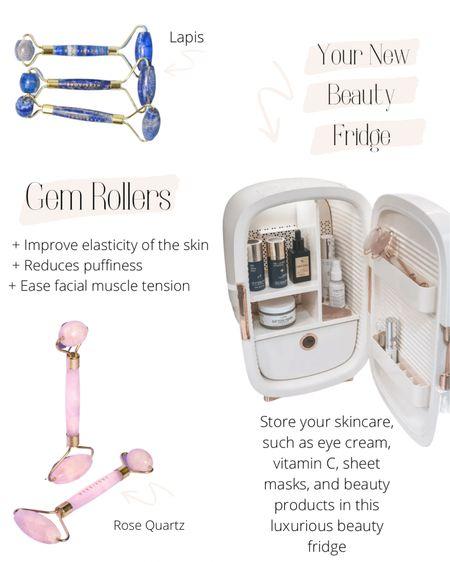 Luxurious beauty fridge with gem rollers http://liketk.it/3aXHE @liketoknow.it #liketkit #LTKbeauty