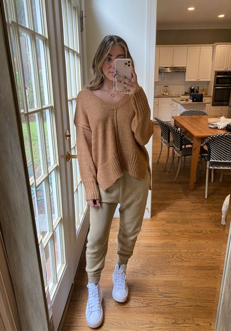Fall sweater tan sweater free people dupe  Small code CAMPBELL15
