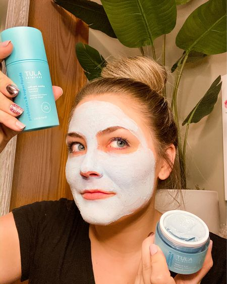 #tulagiftedme their Self Care Sunday Nourishing Face Mask and Detox in a Jar Exfoliating Treatment Mask and my face is feeling more hydrated and smoother than ever!🤩👏🏻I've been using @tula skincare products since September and they have truly been a game changer for my skin. I highly recommend you check them out ASAP if you're battling dryness, acne, lack of moisture, noticeable aging, etc and bonus, they're FULL of probiotics and superfoods. Clean, EFFECTIVE skincare is my jam.🙌🏻#tulaobsessed USE CODE🌟🌟 HPS15 🌟🌟TO SAVE!! . . . . .  Shop your screenshot of this pic with the LIKEtoKNOW.it shopping app http://liketk.it/2JAgm #liketkit @liketoknow.it #LTKunder100 #LTKbeauty #LTKstyletip #healthyskin #cleanskincare #octolyfamily #skincareregimen #facemask #selfcare #beautybloggers