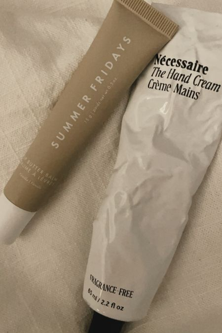 Lip balm and hand cream 🤍