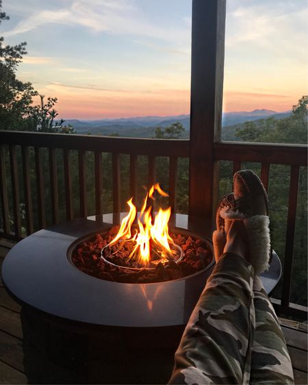 Easy like Sunday morning. Saw the prettiest sunrises while in the mountains, & feeling blessed. PS- these camo sweatpants are the comfiest ever, & these slippers are going strong at 8 years (these are my vacation slippers & I never leave home without them!). They come in tons of colors, & make the perfect gift for you or a loved one! Head to the @liketoknow.it app & search my insta name to shop it all. http://liketk.it/2xXpI #liketkit #LTKunder100 #LTKunder50 #LTKshoecrush #LTKstyletip #LTKhome